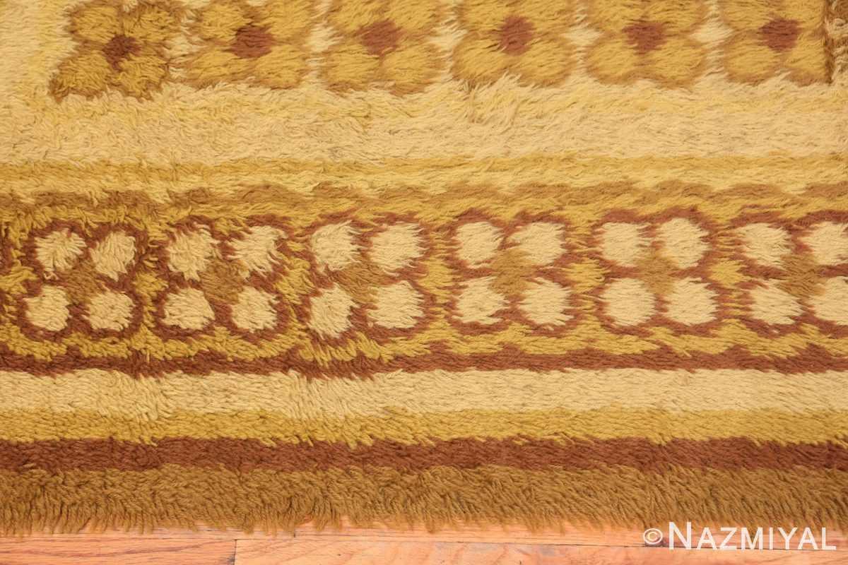 Border vintage Scandinavian Rya rug 45535 by Nazmiyal