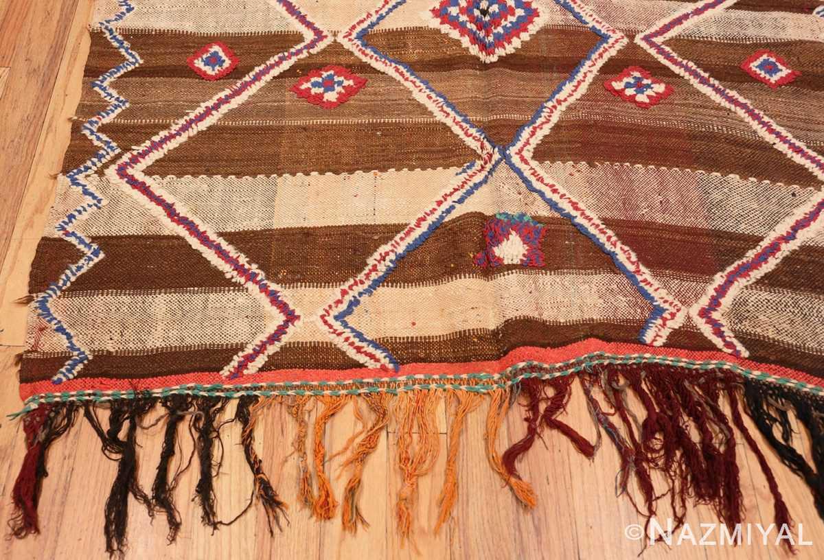 Corner Tribal Vintage Moroccan Kilim runner rug 45683 by Nazmiyal
