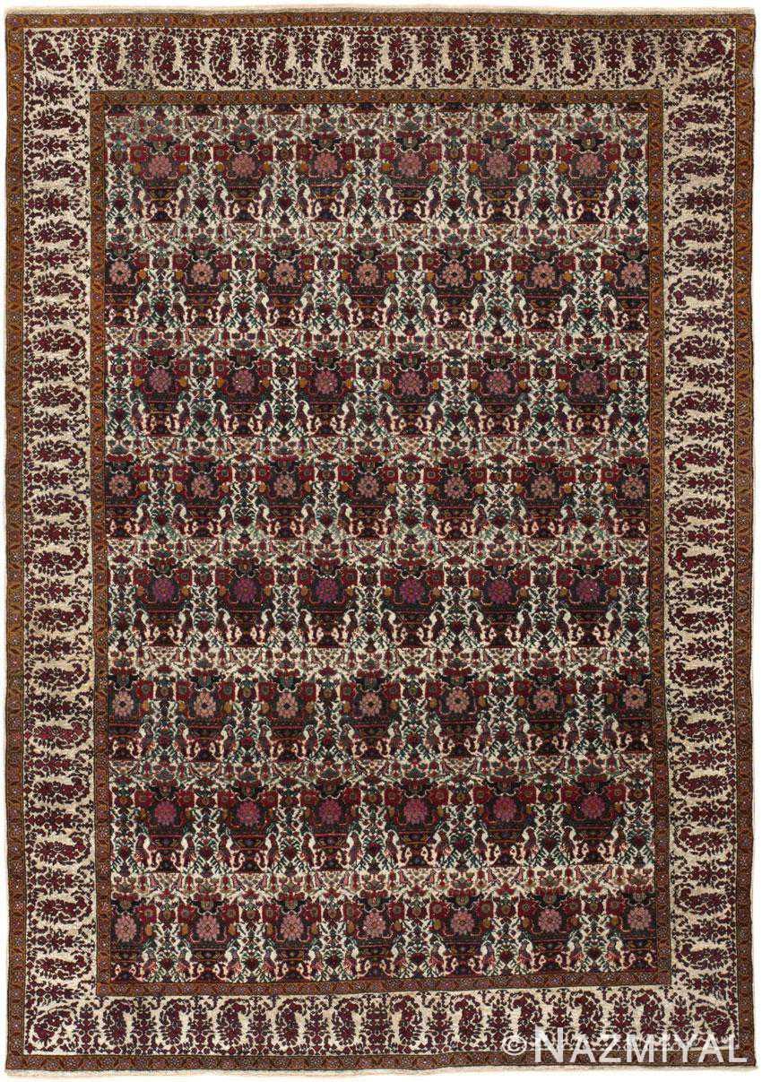 Antique Silk Farahan Rug 44916 Detail/Large View