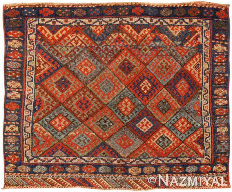 Kurdish Rug Antique Persian Carpet 45485 By Nazmiyal