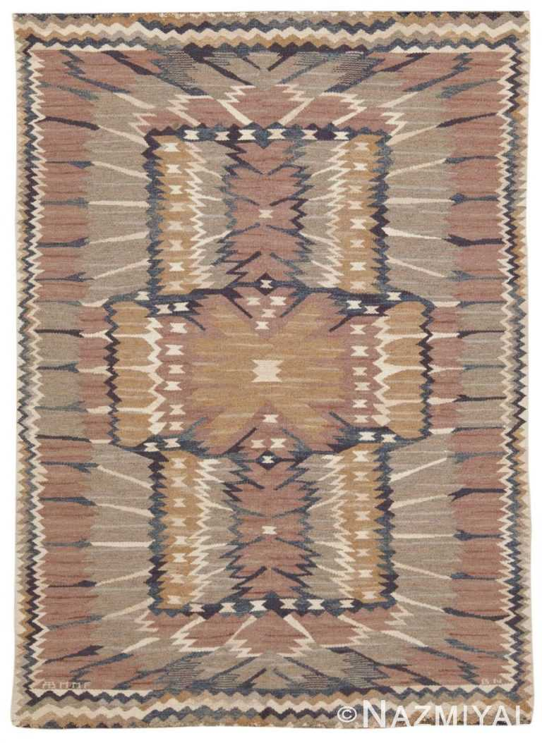 Vintage Swedish Scandinavian Rug 45513 Nazmiyal