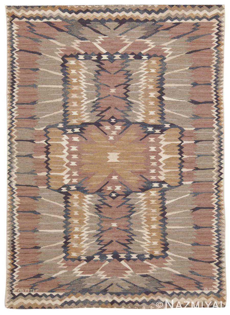 Vintage Swedish Scandinavian Rug 45513 Nazmiyal