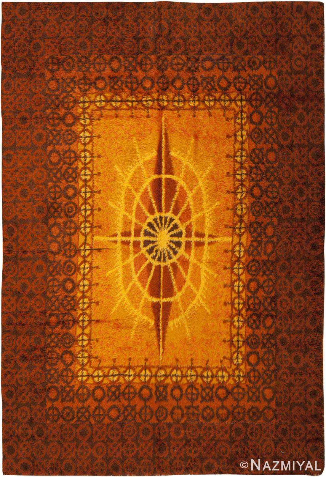 Vintage Rya Rug 45530 Detail/Large View