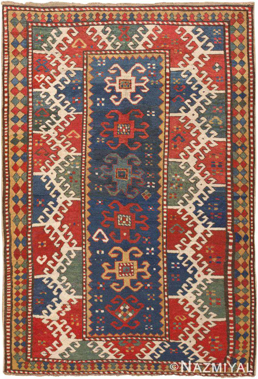 Antique Kazak Rug 45629 Detail/Large View - By Nazmiyal