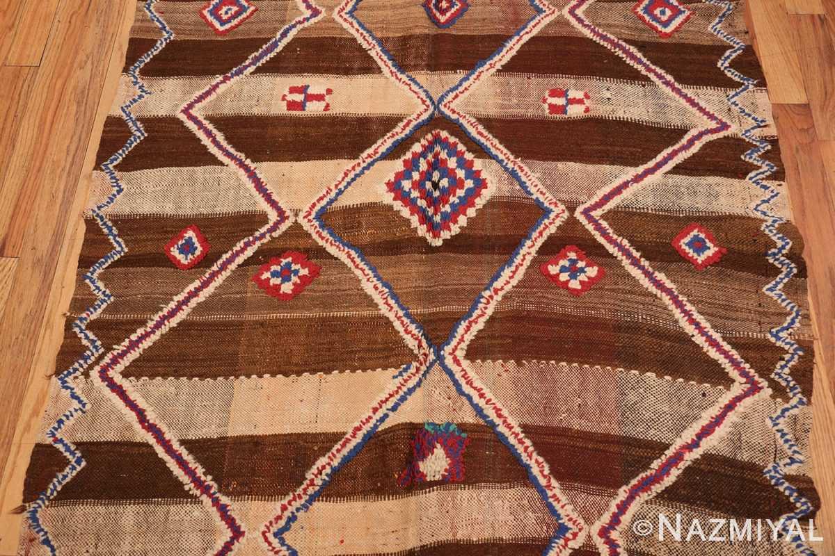 Field Tribal Vintage Moroccan Kilim runner rug 45683 by Nazmiyal