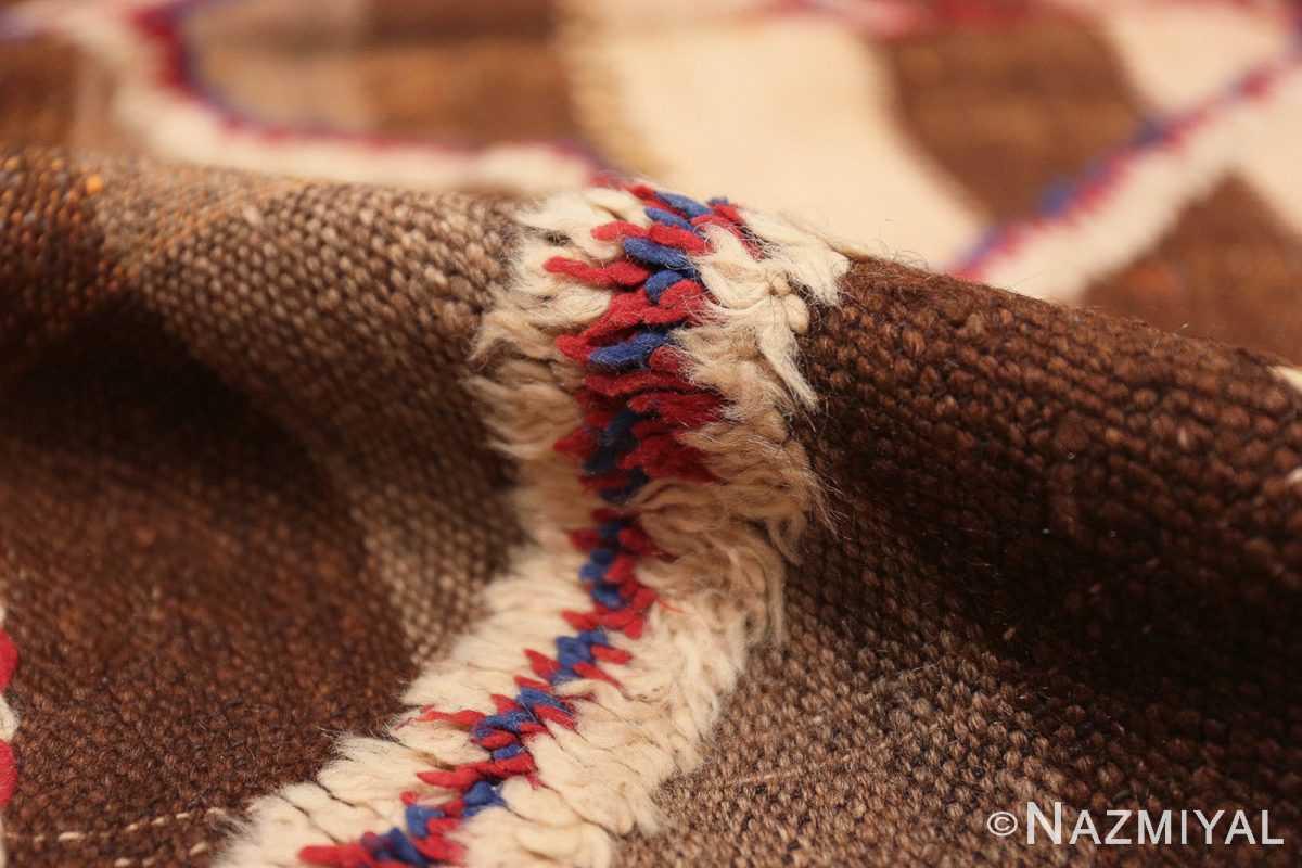 Pile Tribal Vintage Moroccan Kilim runner rug 45683 by Nazmiyal
