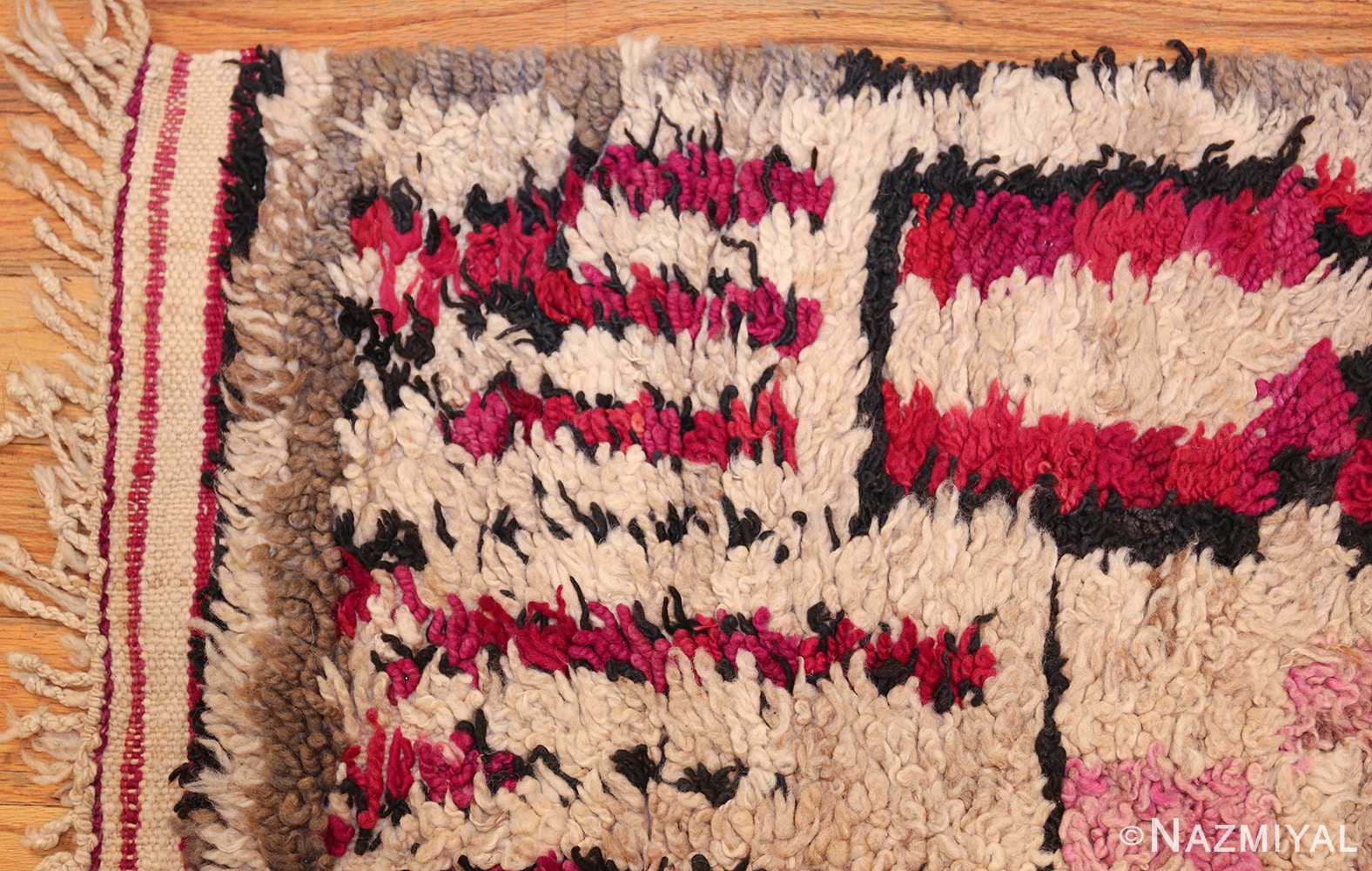 vintage moroccan rug 45608 corner Nazmiyal