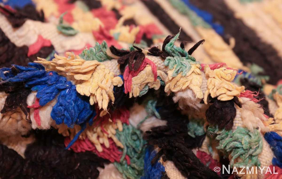 vintage moroccan rug 45614 pile Nazmiyal