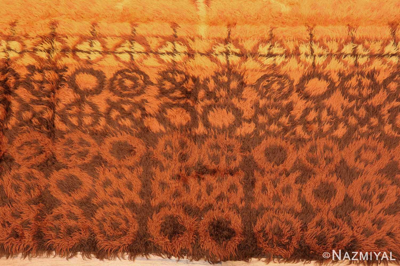 vintage scandinavian rya rug 45530 border Nazmiyal