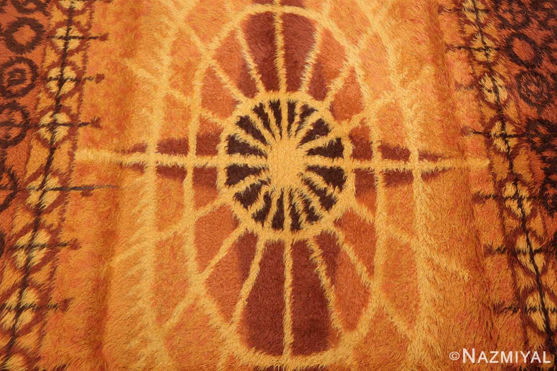 vintage scandinavian rya rug 45530 center Nazmiyal