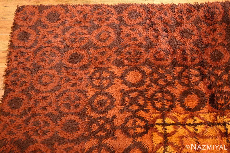 vintage scandinavian rya rug 45530 corner Nazmiyal