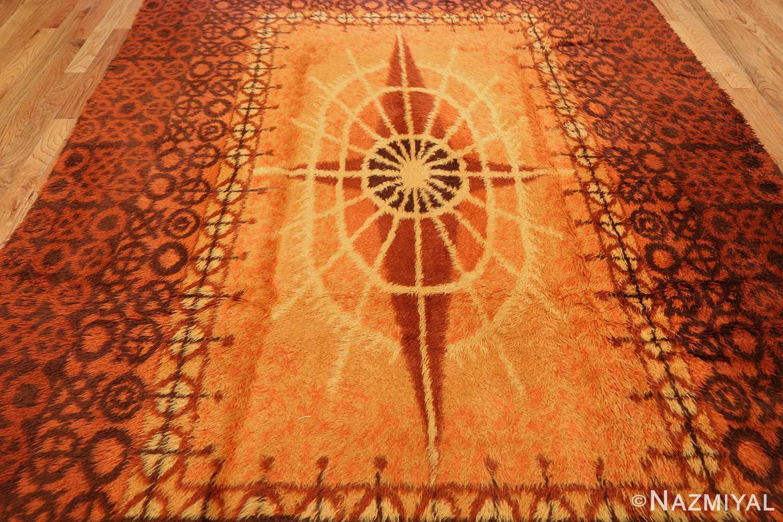 vintage scandinavian rya rug 45530 field Nazmiyal