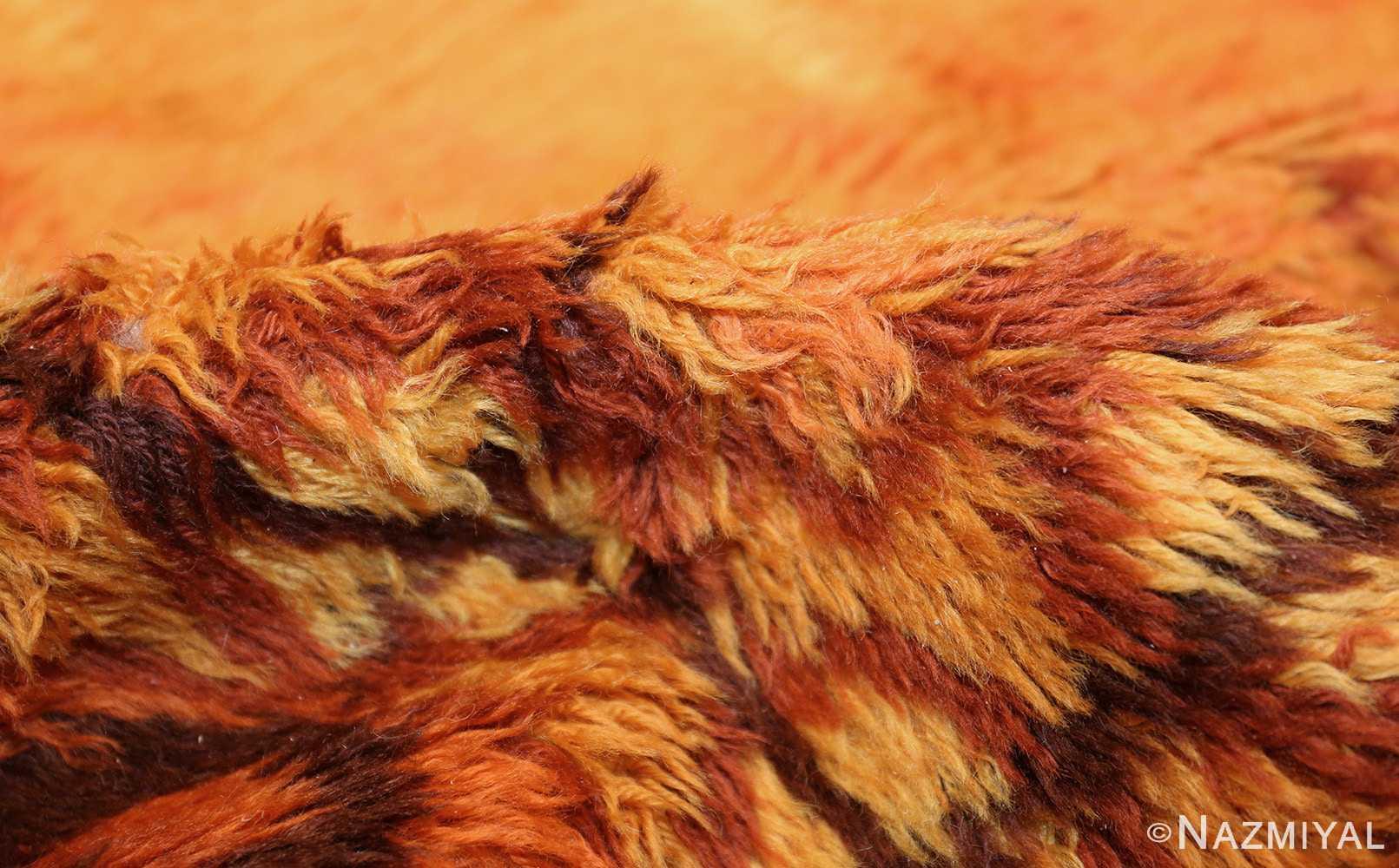 vintage scandinavian rya rug 45530 pile Nazmiyal