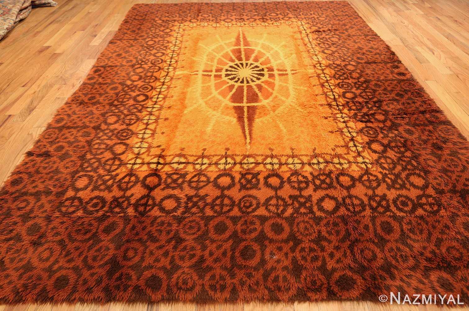 vintage scandinavian rya rug 45530 whole Nazmiyal