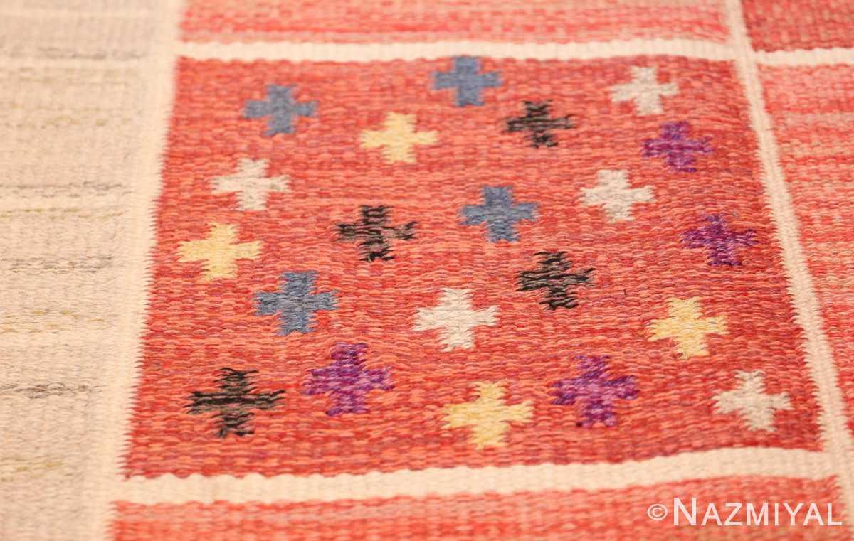 vintage scandinavian swedish kilim rug by rakel callander 45646 cross Nazmiyal