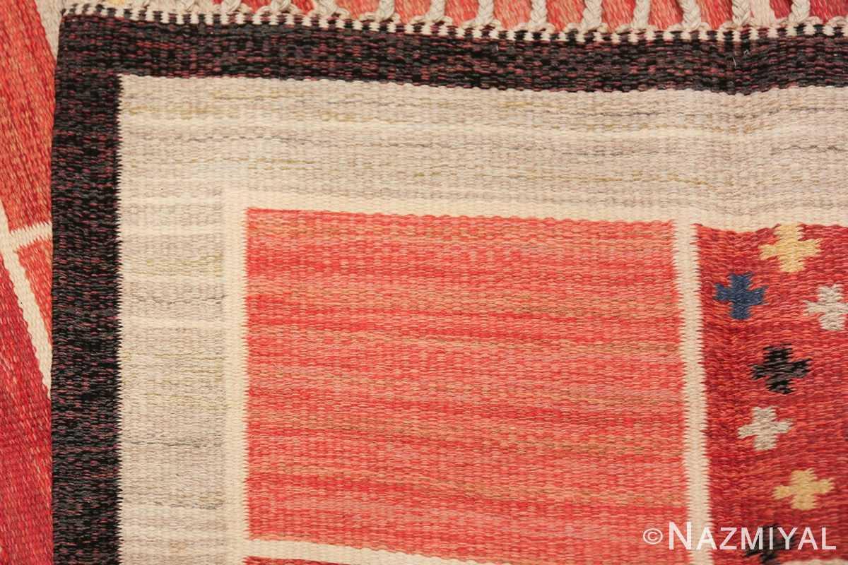 vintage scandinavian swedish kilim rug by rakel callander 45646 knots Nazmiyal