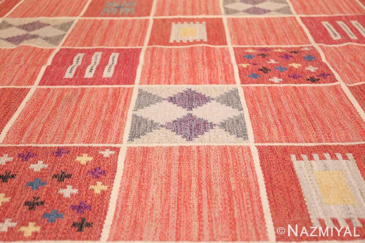 vintage scandinavian swedish kilim rug by rakel callander 45646 squares Nazmiyal