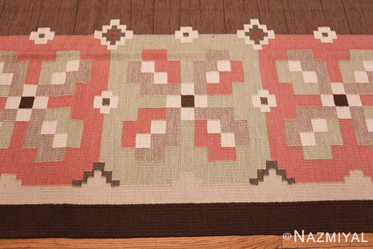 vintage swedish kilim rug 45655 border Nazmiyal