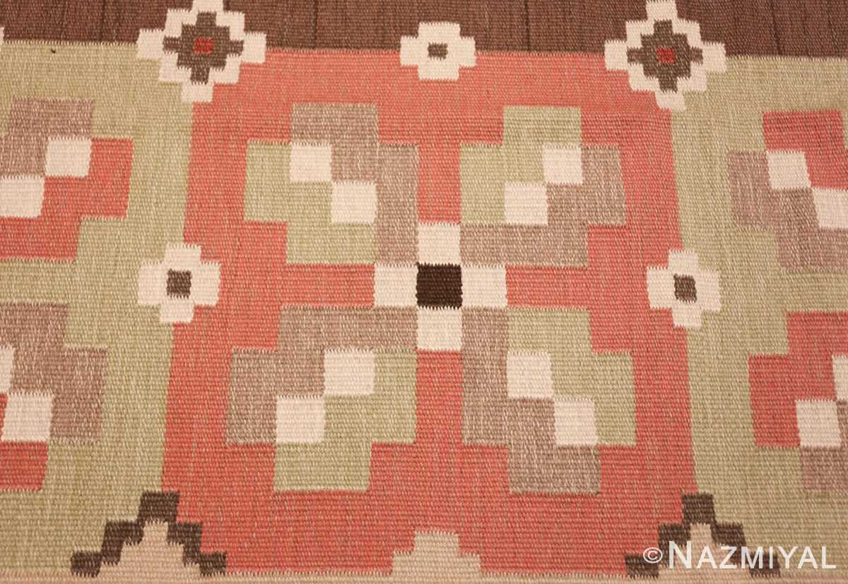 vintage swedish kilim rug 45655 design Nazmiyal