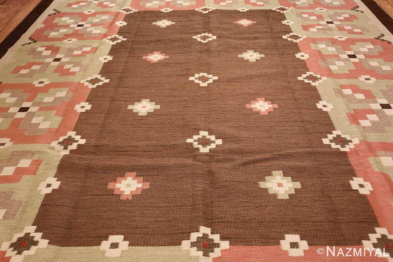 vintage swedish kilim rug 45655 field Nazmiyal