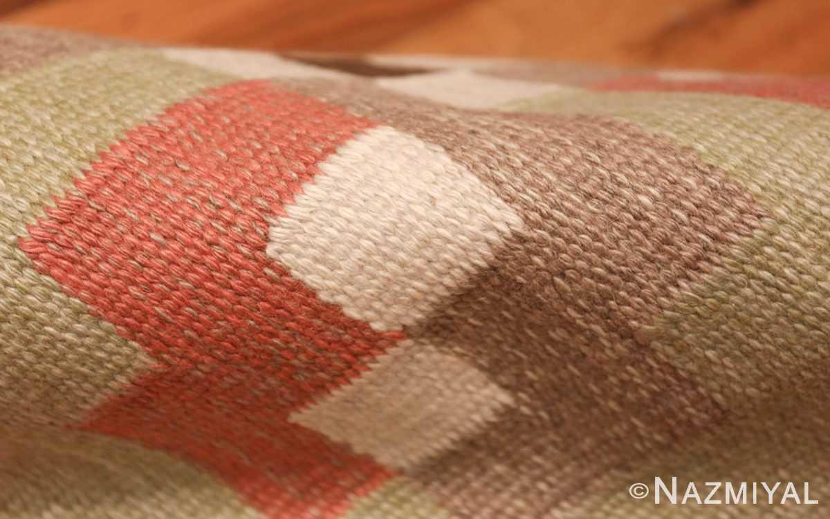 vintage swedish kilim rug 45655 pile Nazmiyal