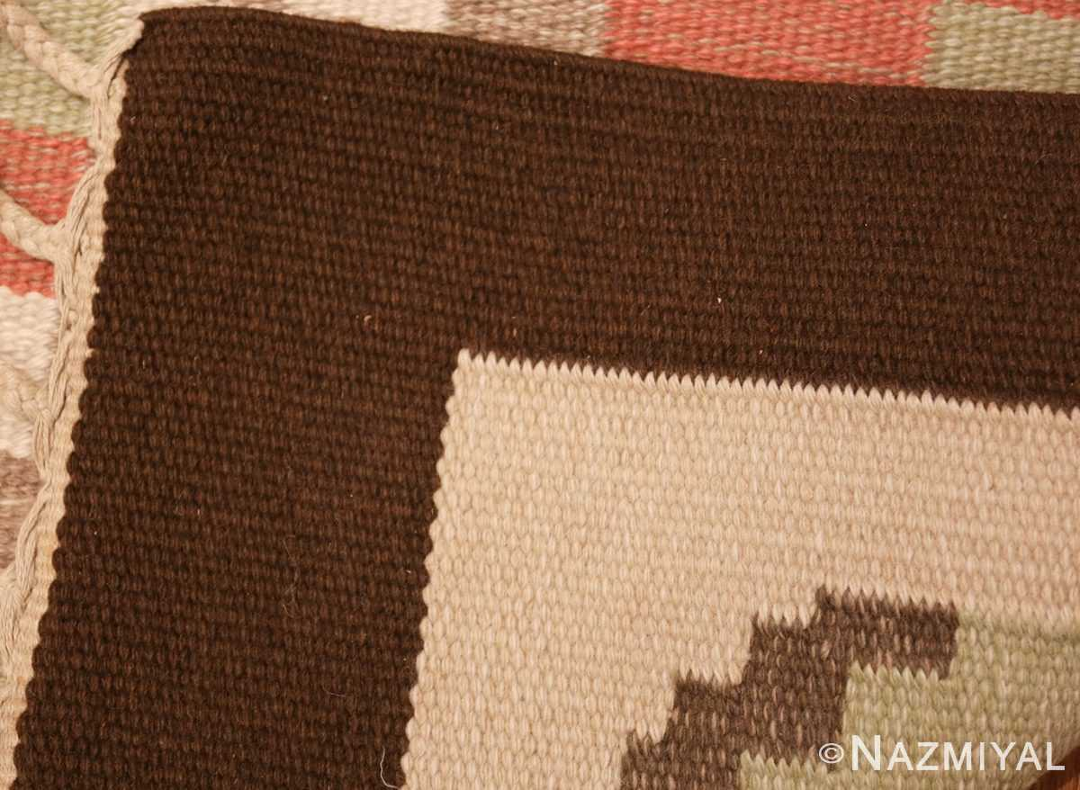 vintage swedish kilim rug 45655 weave Nazmiyal