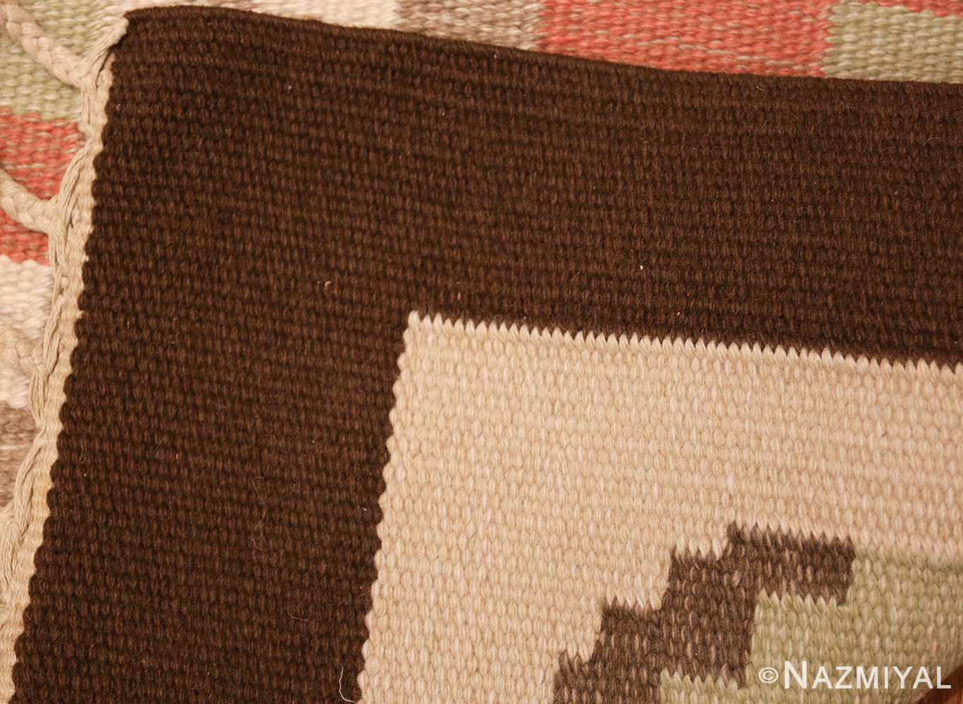 vintage swedish kilim rug 45655 weave Nazmiyal