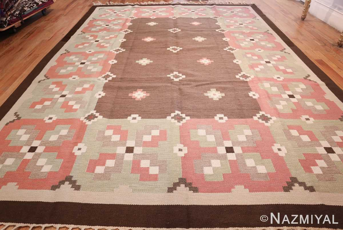 vintage swedish kilim rug 45655 whole Nazmiyal
