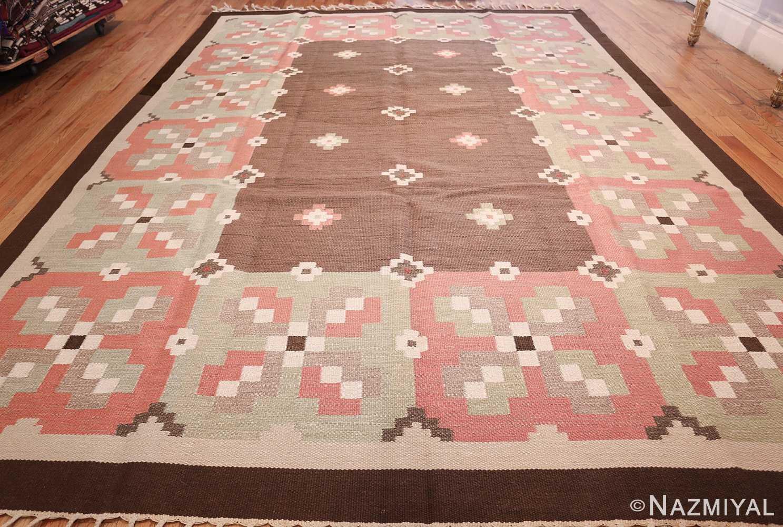 vintage swedish kilim rug 45655 whole Nazmiyal