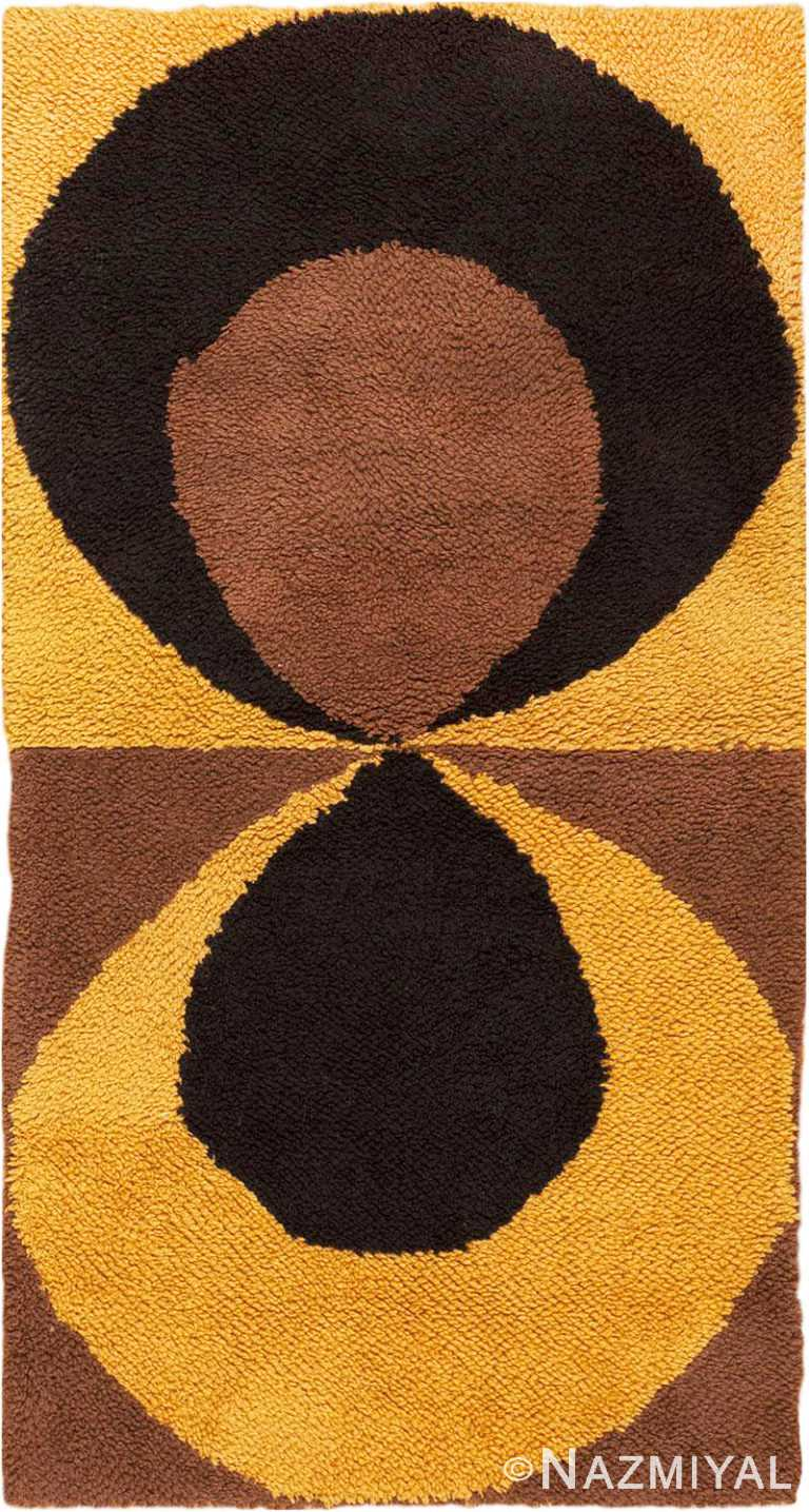Small Vintage Swedish Pile Area Rug #45667 by Nazmiyal Antique Rugs