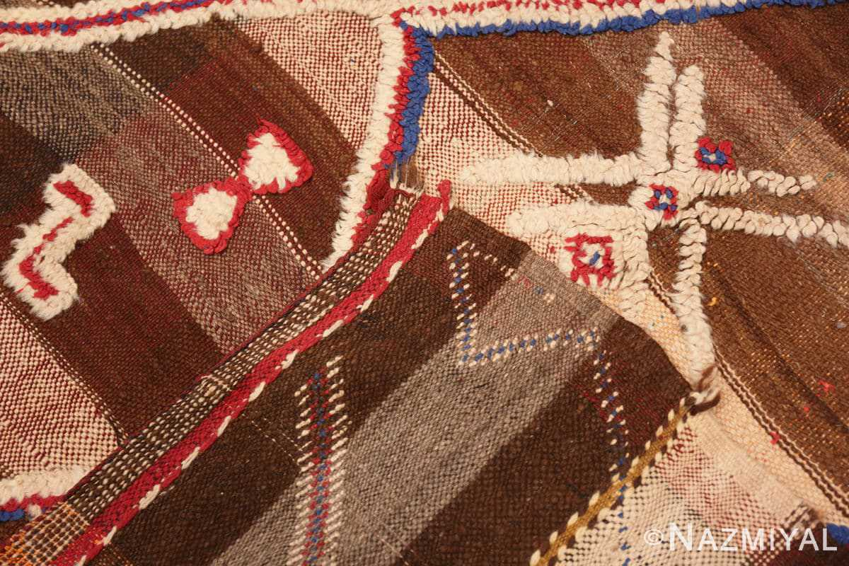 Weave Tribal Vintage Moroccan Kilim runner rug 45683 by Nazmiyal