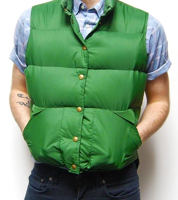 Green Winter Vest - Nazmiyal