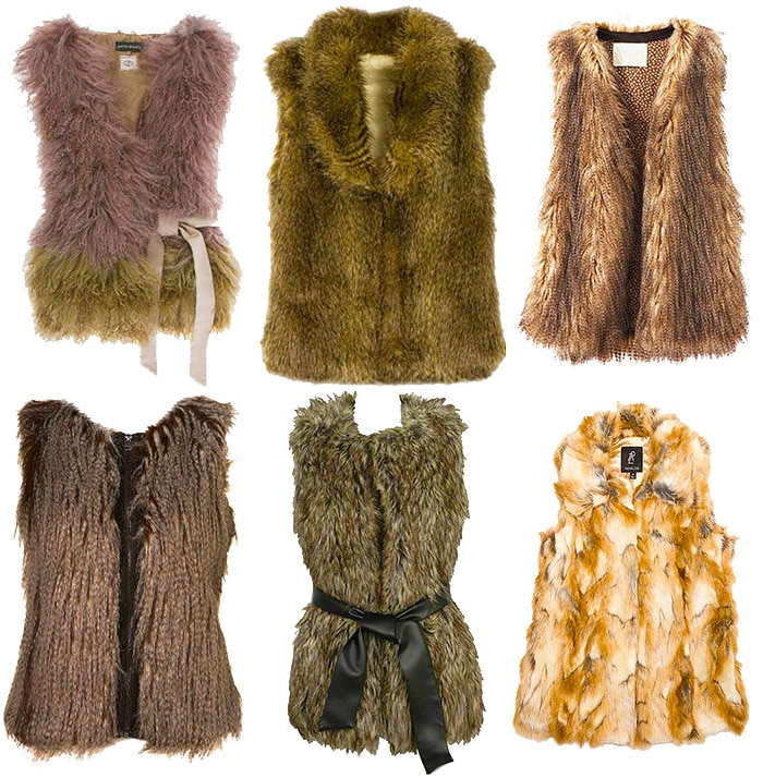 Women's Furry Vests - Nazmiyal
