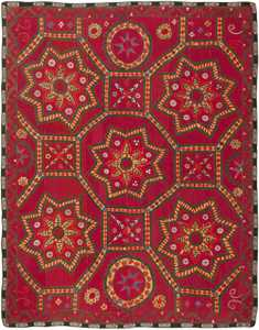 Antique Suzani Textile 45695 Detail/Large View