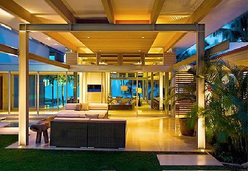 Green Vacation Home Interior Design Nazmiyal