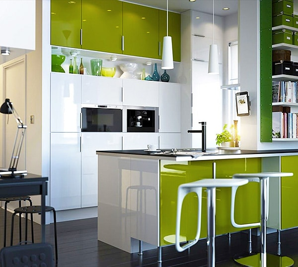 Lime Green Kitchen Interior Design Trends - NAzmiyal