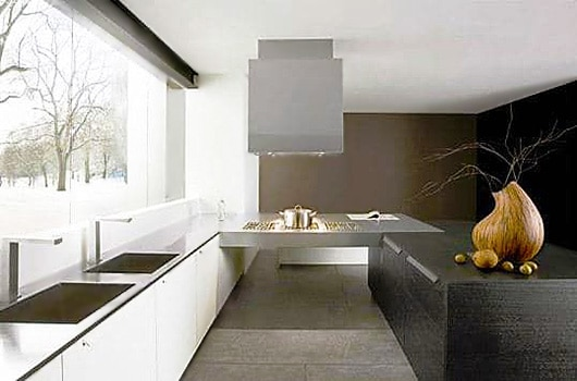 Minimalist Black and White Modern Kitchen interior design trends - Nazmiyal