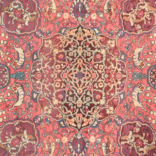 Purple Color Antique Israeli Mabediah Carpet - Nazmiyal
