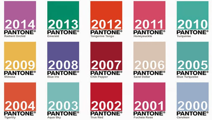 Uitgelezene Pantone Colors Of The Year   Pantone Colors 2012 2013 2014 2018 LV-45