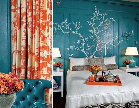Tangerine Tango Color Curtains - Nazmiyal