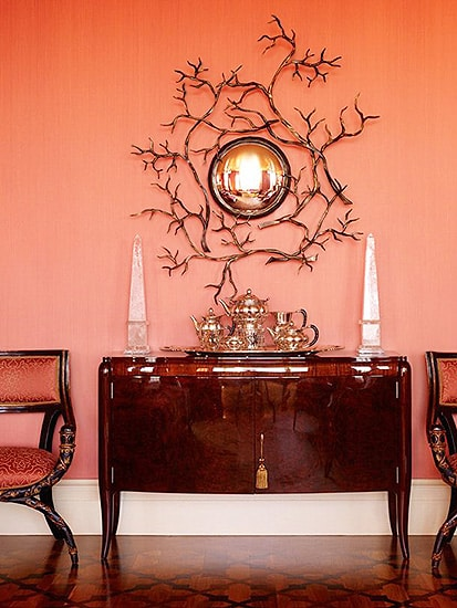 Tangerine Tango Colored Accent Wall Color - Nazmiyal