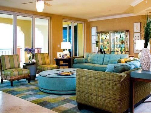Vacation Home Family Room Interior Design Nazmiyal