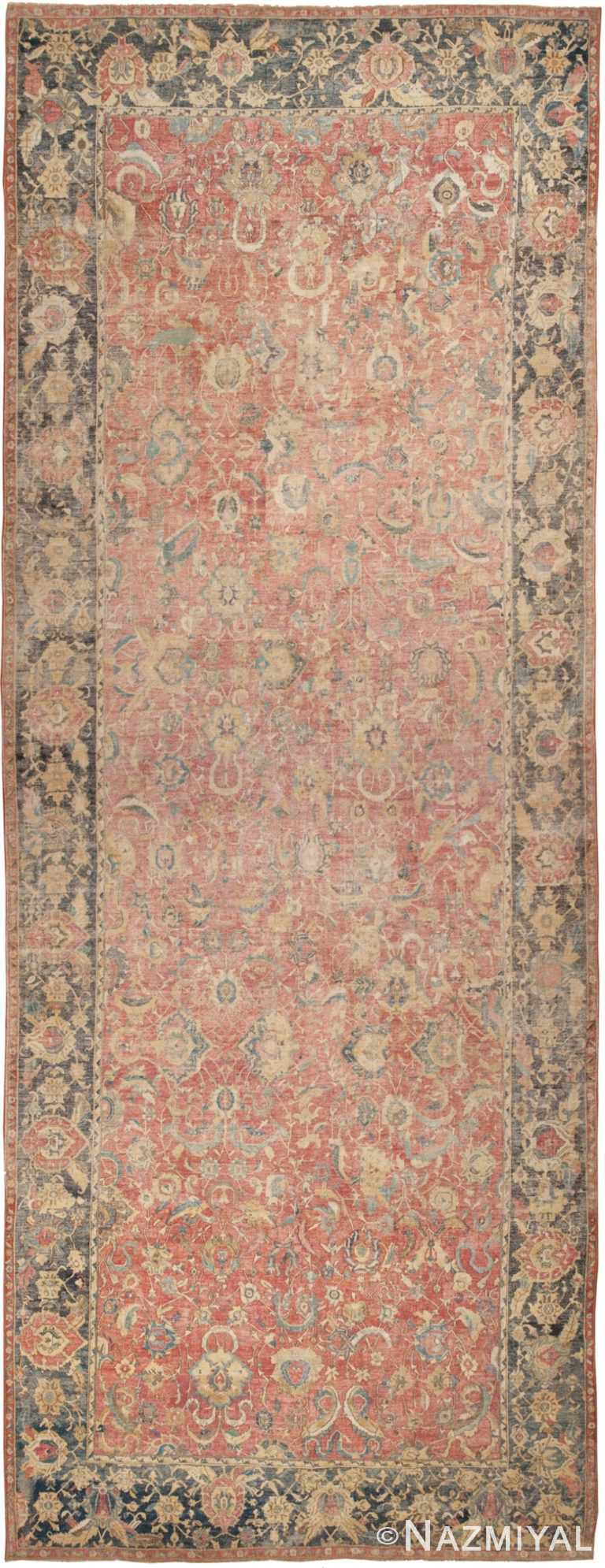 Antique Isfahan Rug | 44143 by Nazmiyal | HR