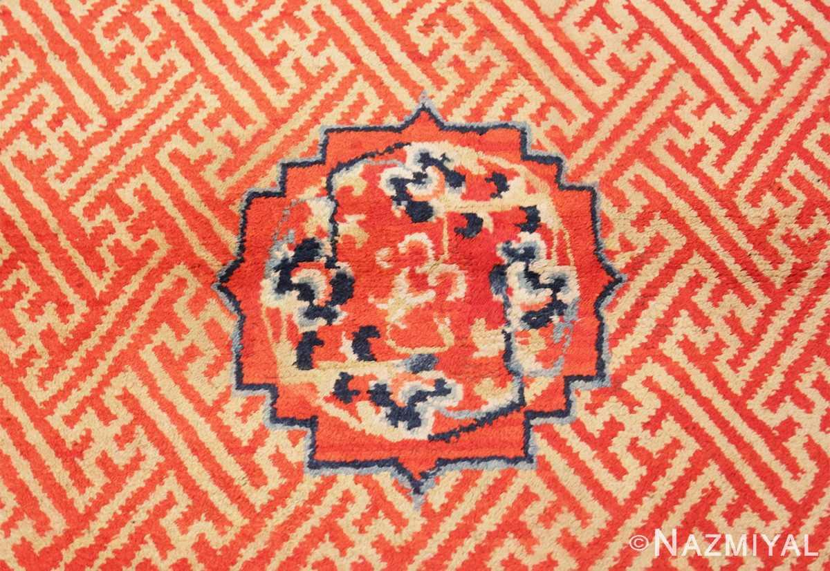 Close-up Antique Tibetan rug 45640 by Nazmiyal