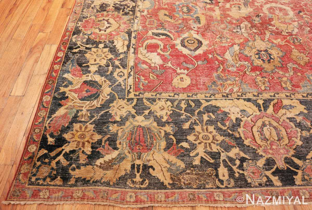Corner Oversized Antique 17th Century Persian Esfahan Oriental rug 44143 by Nazmiyal