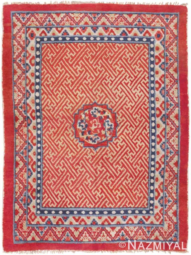 Antique Tibetan Rug 45640 Detail/Large View