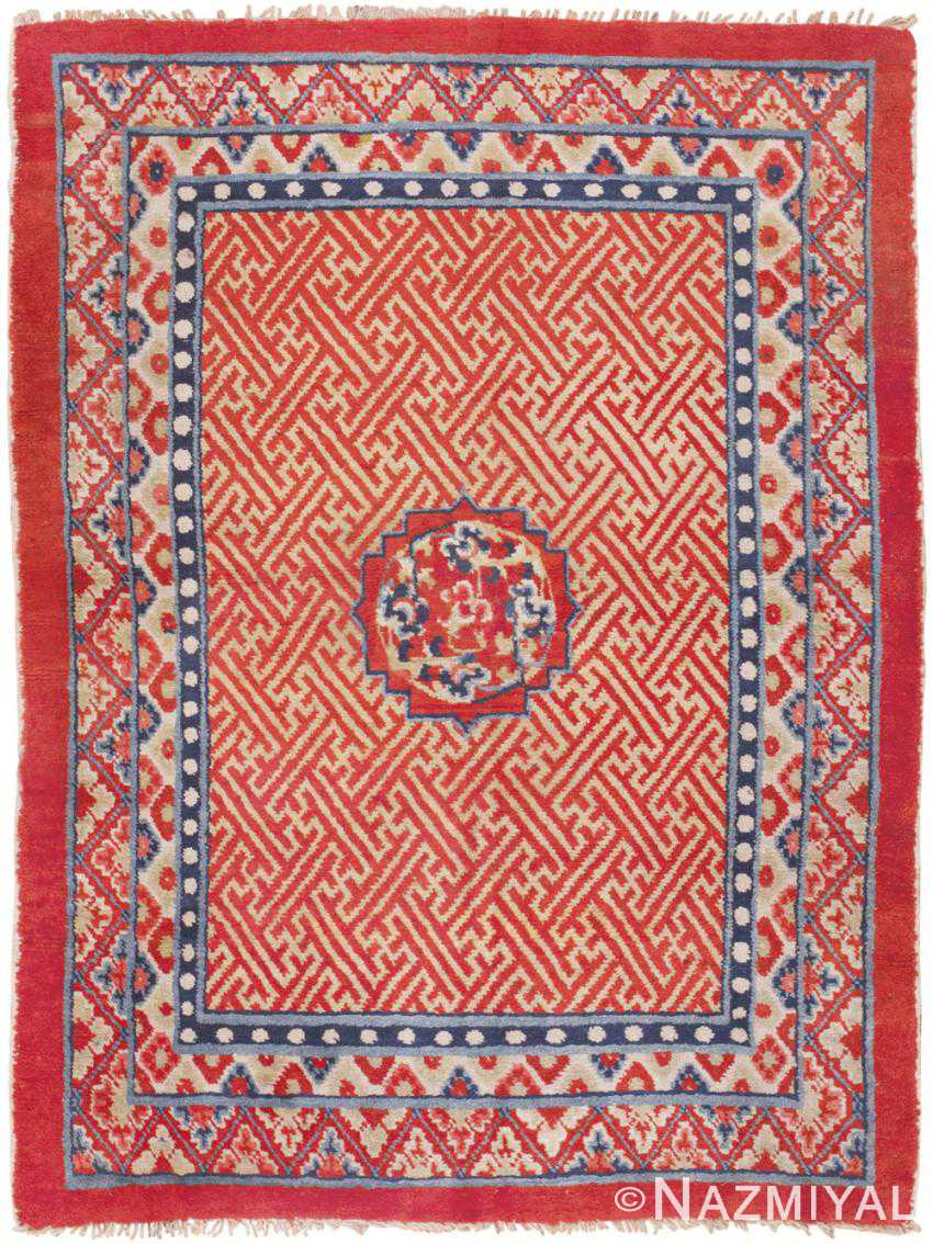 Antique Tibetan Rug 45640 Detail/Large View