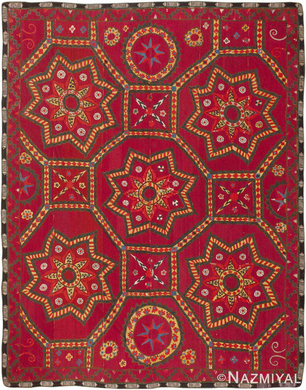 Antique Suzani Textile 45695 Detail/Large View