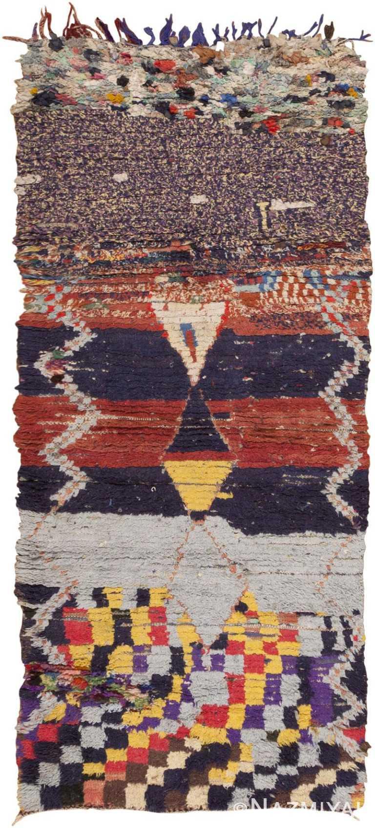 Vintage Tribal Moroccan Colorful Rug #45731 by Nazmiyal Antique Rugs