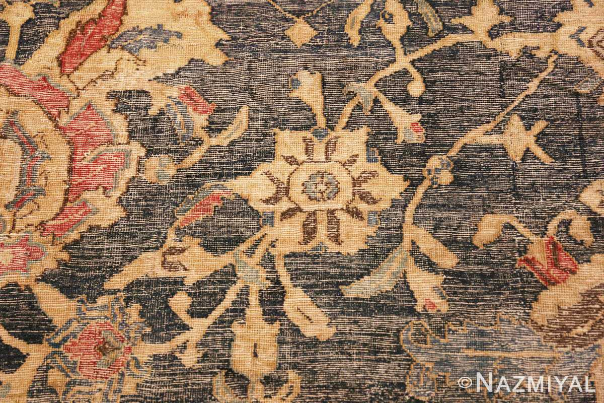 Detail Oversized Antique 17th Century Persian Esfahan Oriental rug 44143 by Nazmiyal